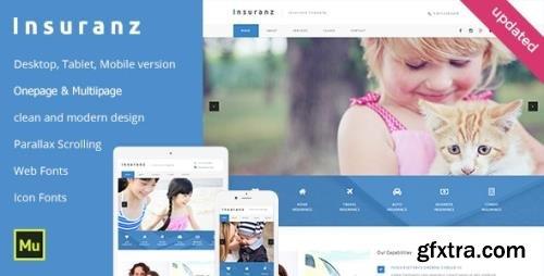 ThemeForest - Insuranz v1.0 - Insurance Services Adobe Muse Template (Update: 10 August 19) - 11625842