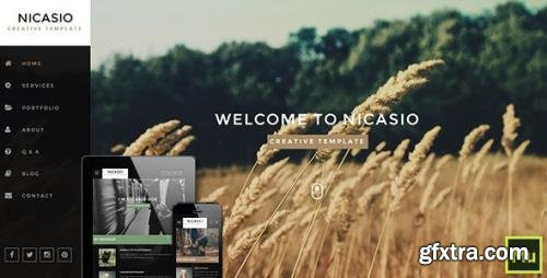 ThemeForest - Nicasio v1.0 - Creative Muse Template - 11088053