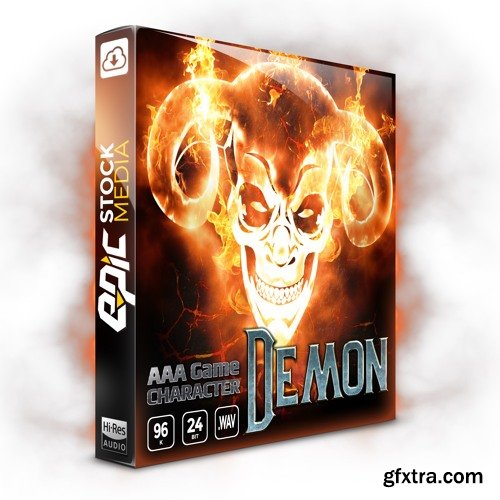 Epic Stock Media AAA Game Character Demon WAV