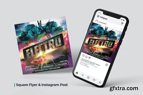 Electro Flyer & Social Post