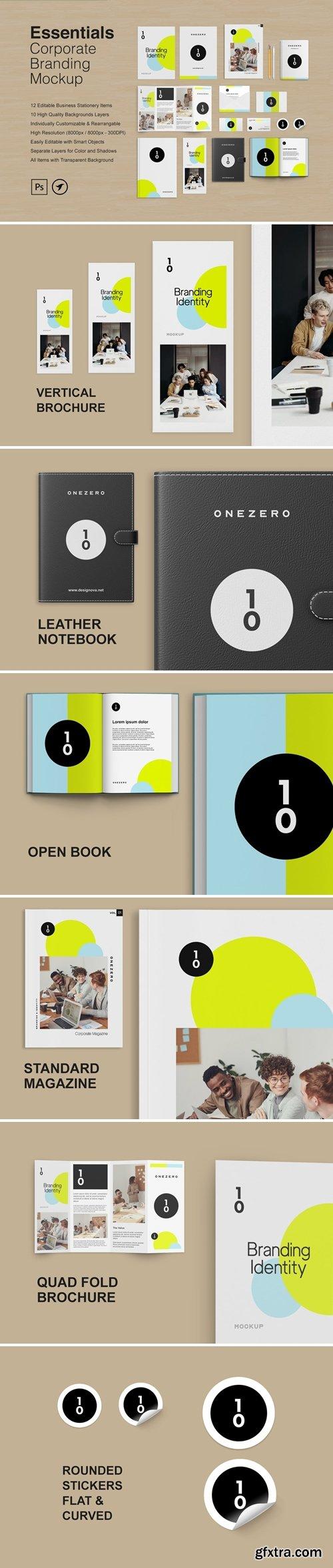 Essentials - Corporate Stationery Branding Mockup