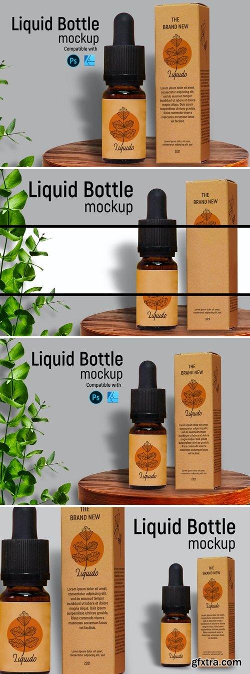Liquid Bottle Mockup