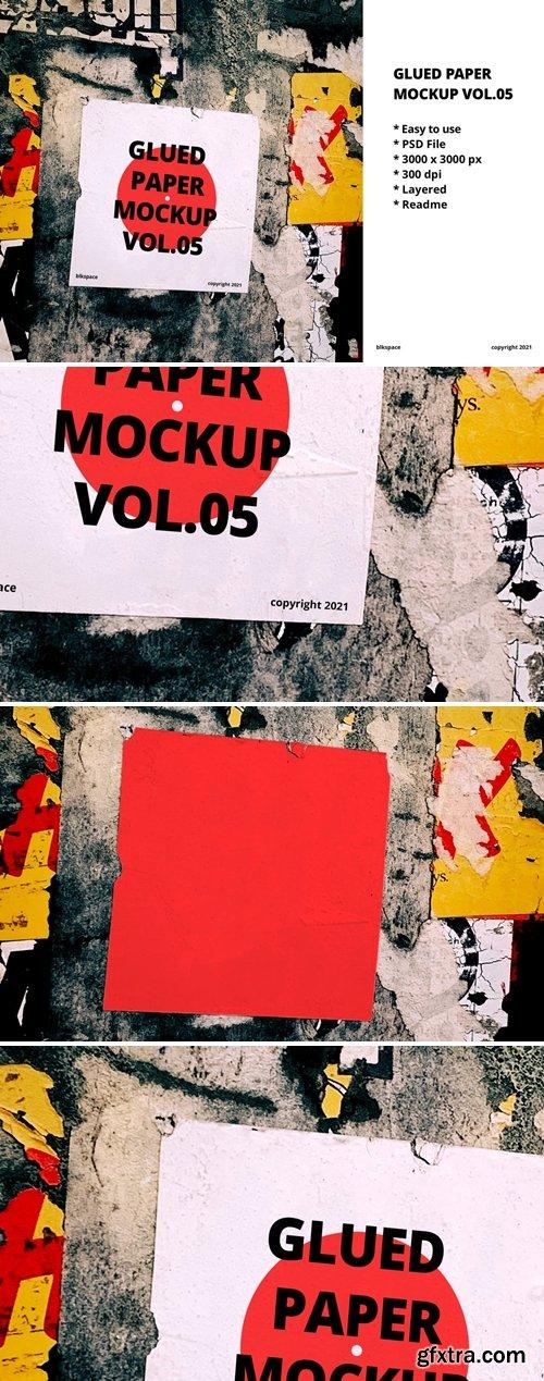Glued Paper Mockup Vol.05