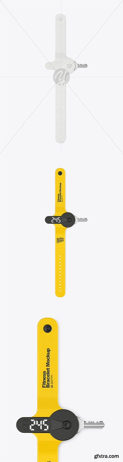 Fitness Silicone Bracelet Mockup 80884