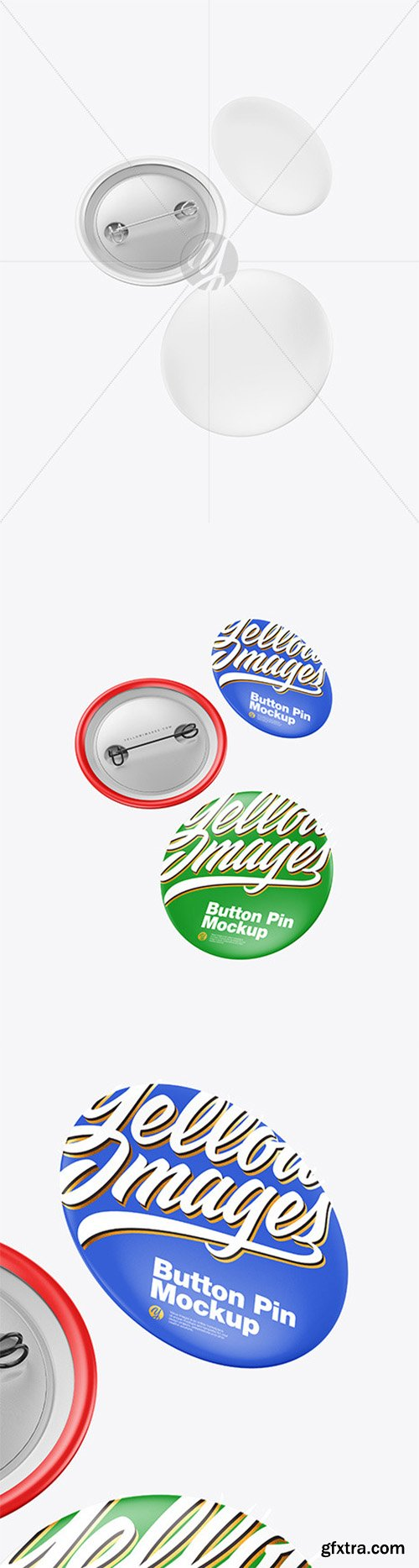 Three Matte Button Pins Mockup 80506