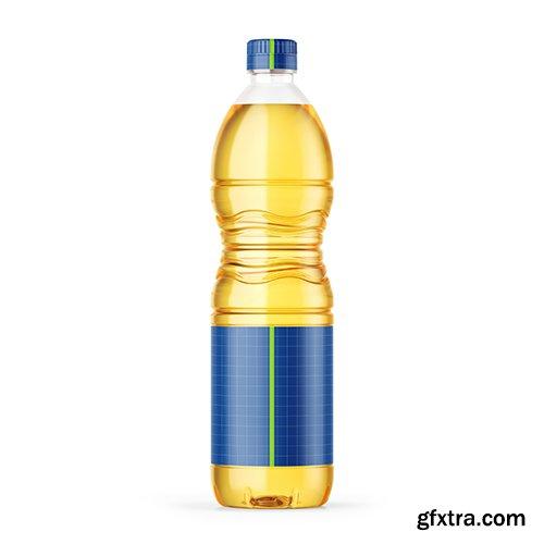 Sunflower Oil Bottle Mockup 81996