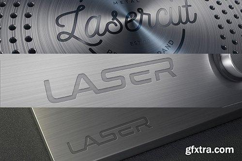 Metal Lasercut Logo Mockups 73869
