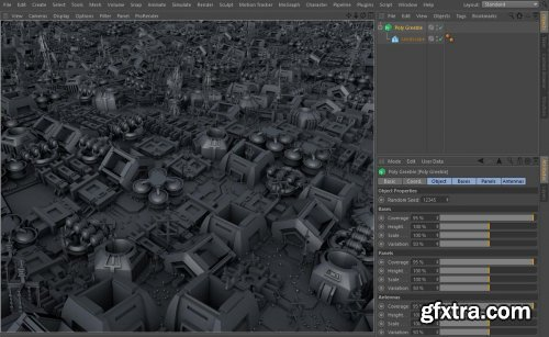 Poly Greeble 1.01 for Cinema 4D R15-S22