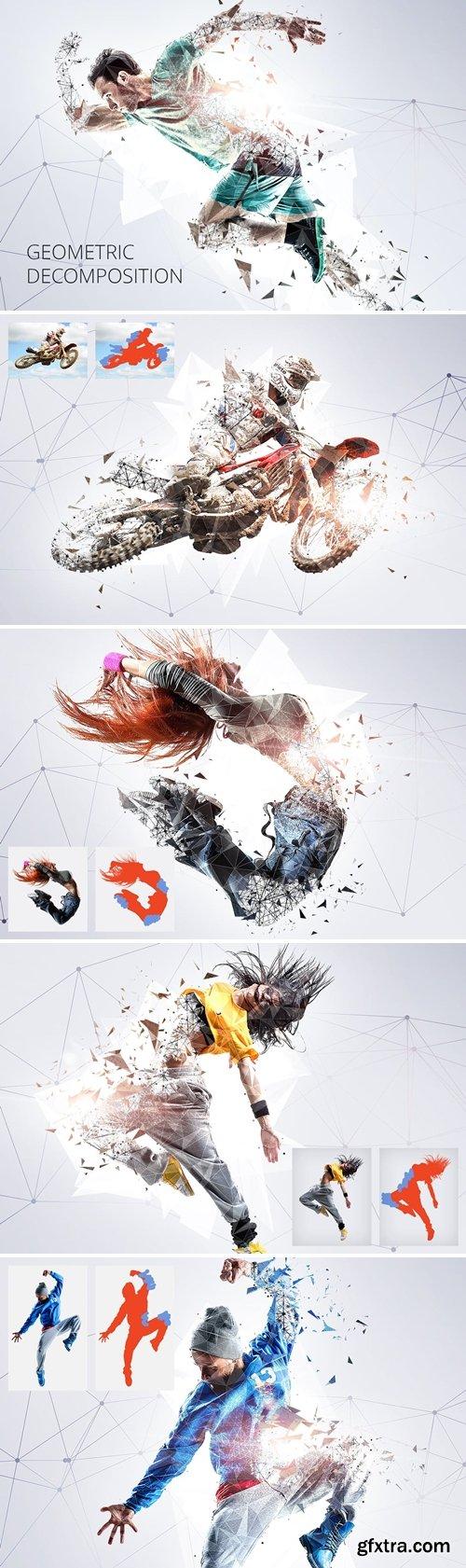 GraphicRiver - Geometric Decomposition Photoshop Action 20615244