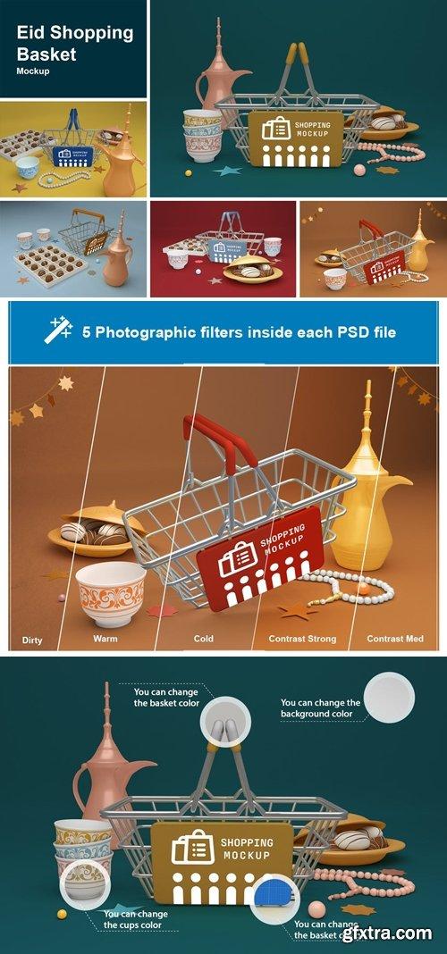 Eid Shopping Basket Mockup