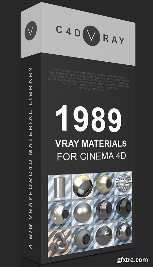 C4DVRAY - 7 GB Vrayforc4d Material Library