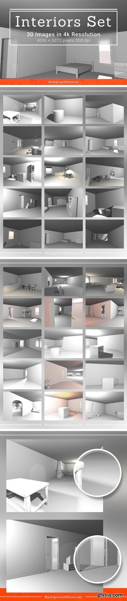 White Interiors Backgrounds Set 584954