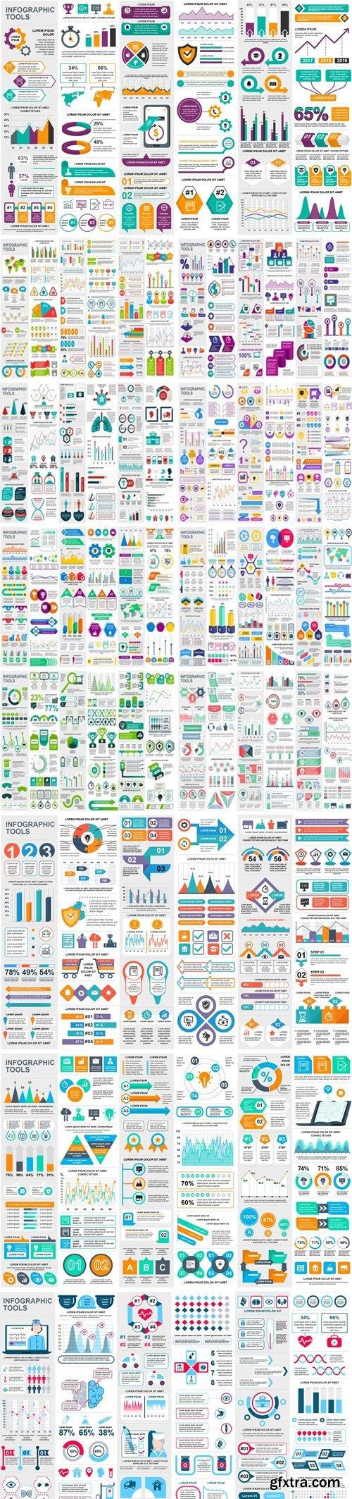 Infographics Vector Design Templates - Bundle 5