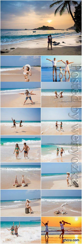 Summer vacation at sea stock photo