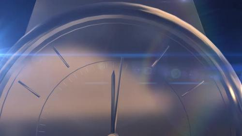 Videohive - Animation of gold watches with optical flares - 32821305 - 32821305