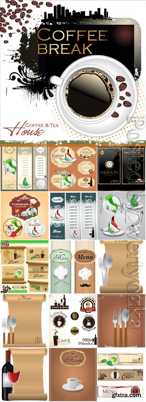 Menu for cafe and restaurant in vector