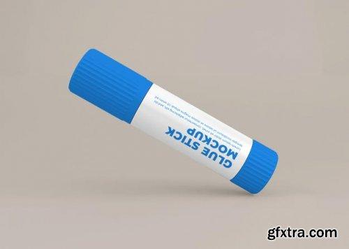 Glue stick label mockup