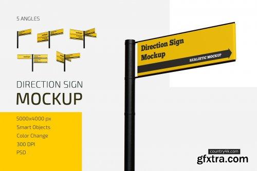 CreativeMarket - Direction Sign Mockup Set 5601634