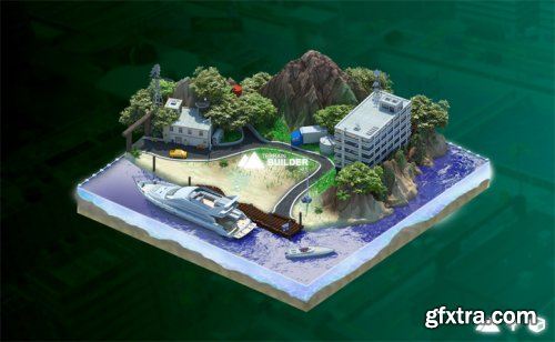 Low Poly City Builder 1.2 for 3ds max