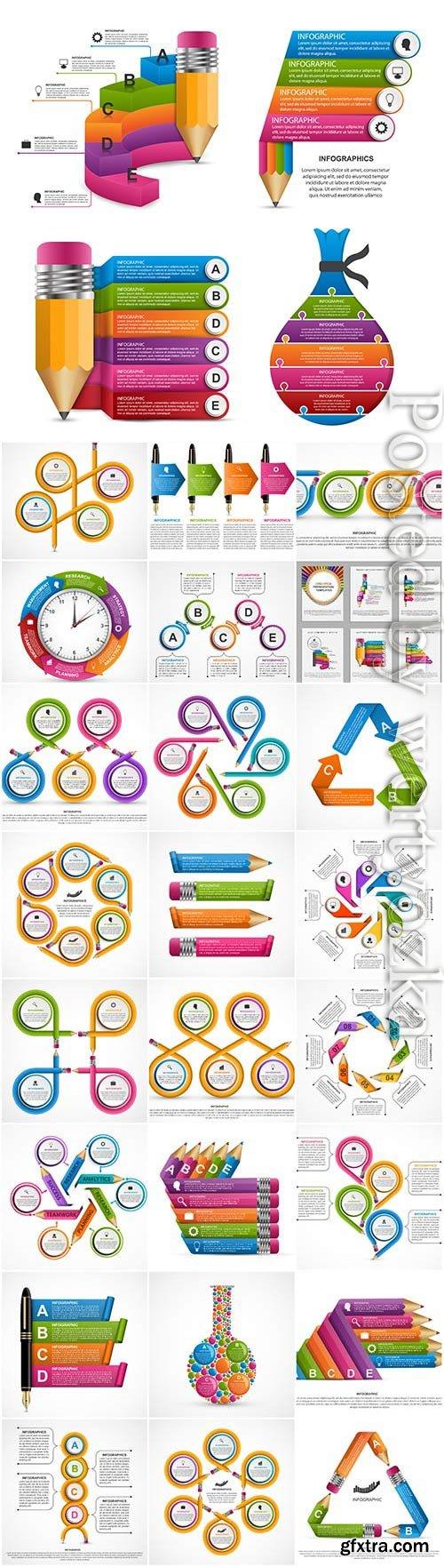Infographics set in vector