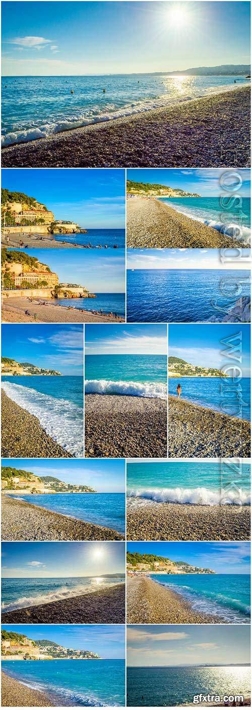 Beautiful coastal scenery stock photo
