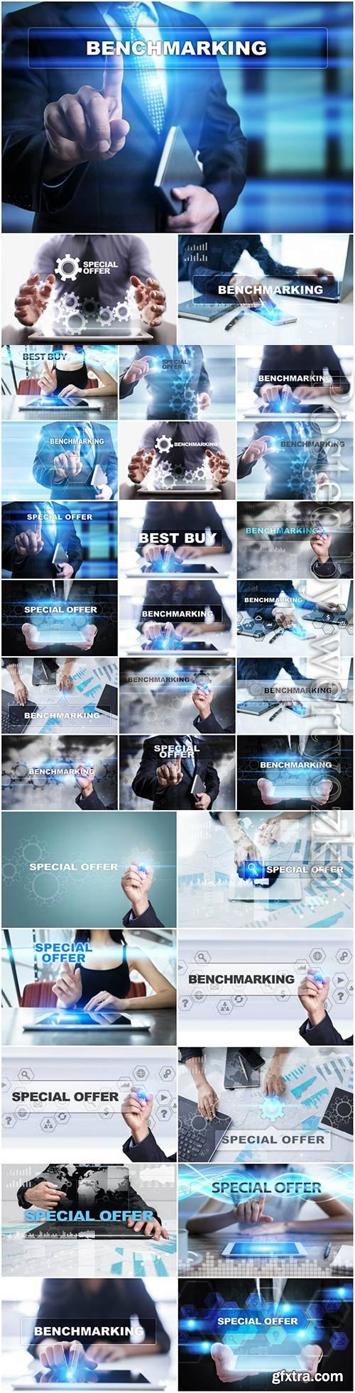 Modern technology and business concept stock photo