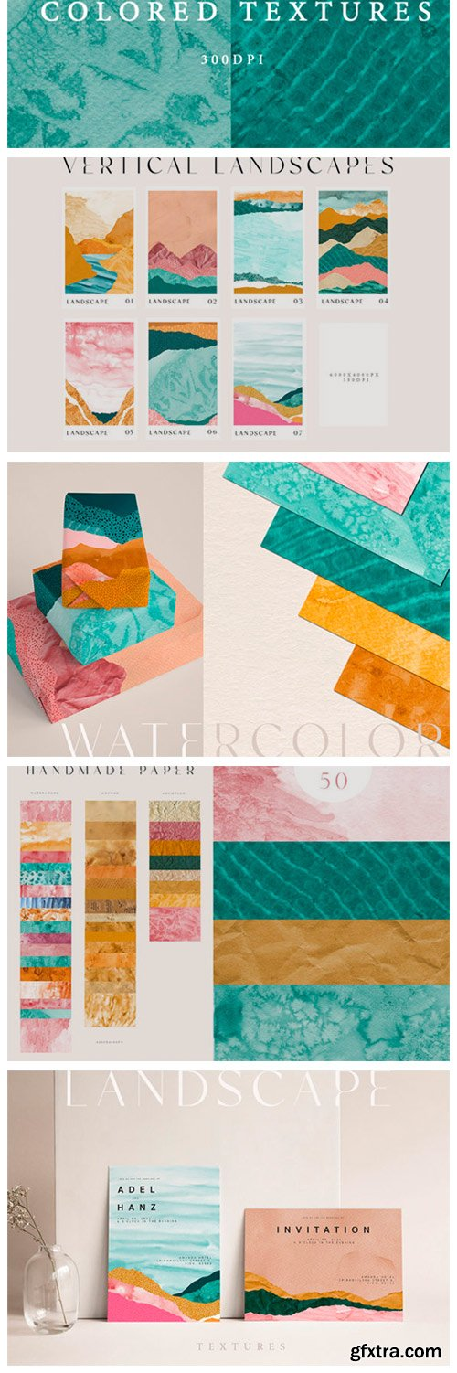 Abstract Landscape Watercolor Papers 9645484