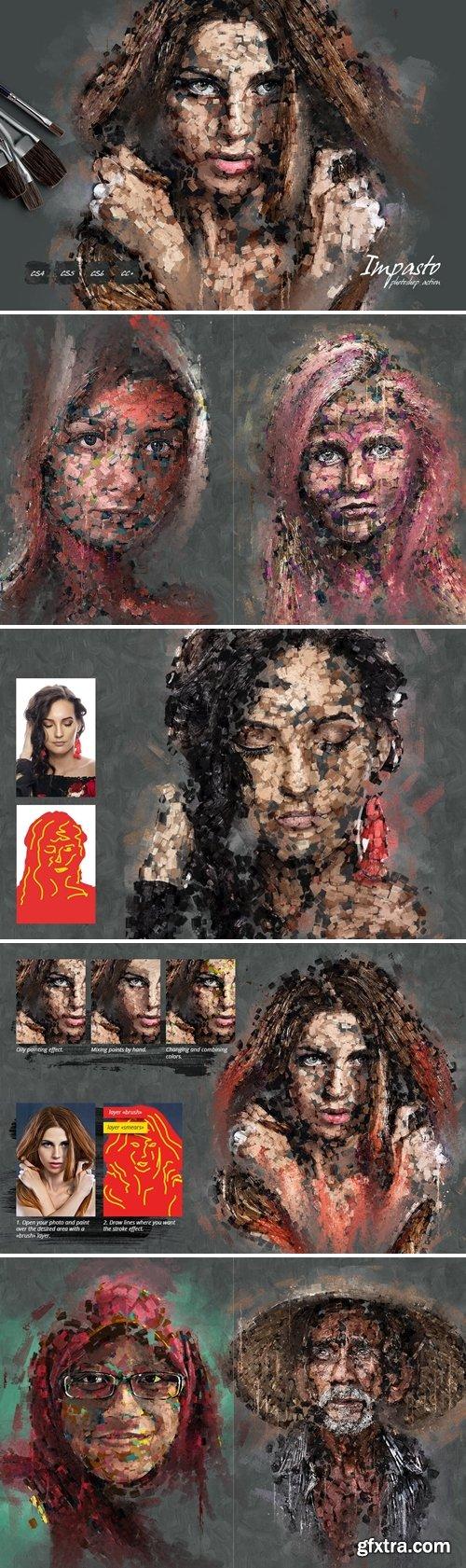 GraphicRiver - Impasto Photoshop Action 30823236
