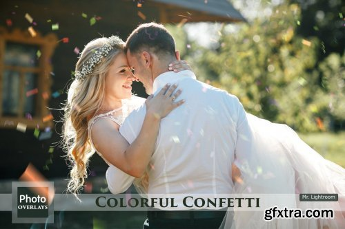 CreativeMarket - 64 Colorful Confetti Overlays 5031612