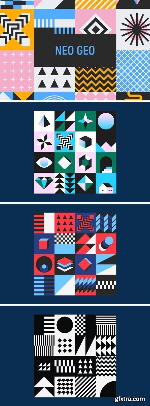 CreativeMarket - Geometric pattern bundle 4515895