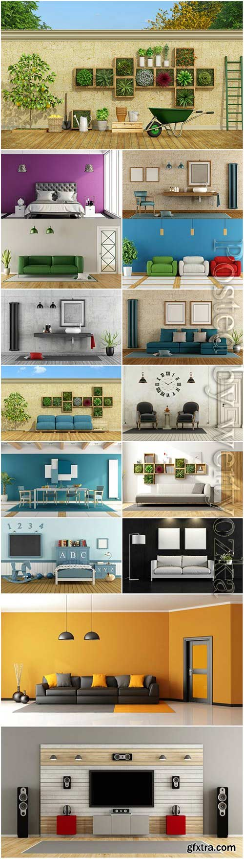 Modern creative interior stock photo