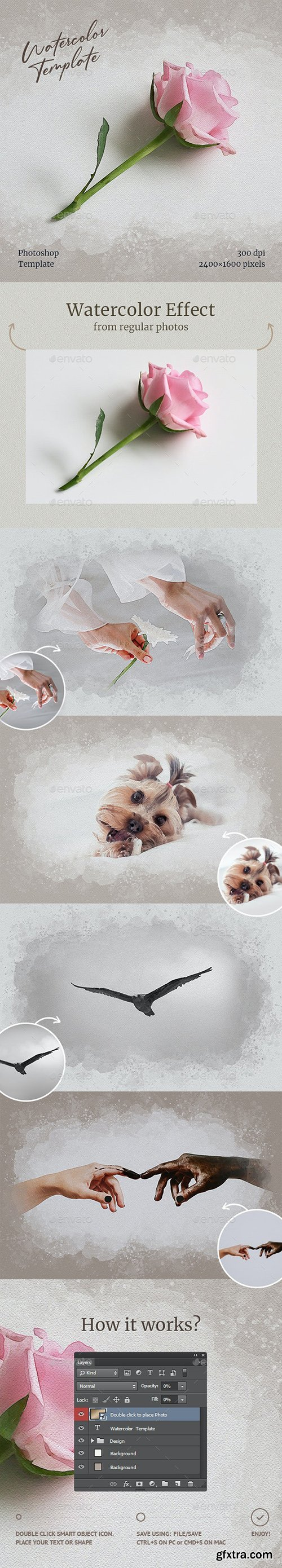 GraphicRiver - Watercolor from Photo Template 31387020