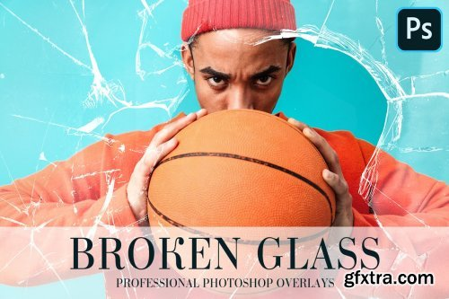 CreativeMarket - Broken Glass Overlays Photoshop 4935123