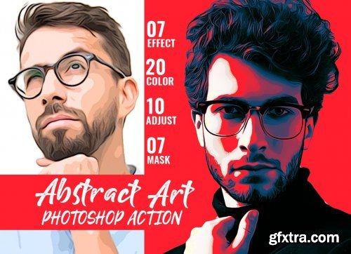 CreativeMarket - Abstract Art Photoshop Action 4878335