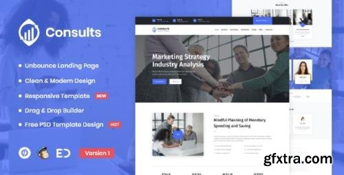 ThemeForest - Consults v1.0 - Consulting and Finance Unbounce Landing Page Template - 29633007