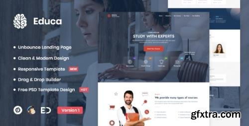 ThemeForest - Educa v1.0 - Distance Education & eLearning Unbounce Landing Page Template - 29412015