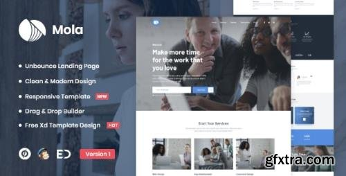 ThemeForest - Mola v1.0 - MultiPurpose Unbounce Landing Page Template - 29554679