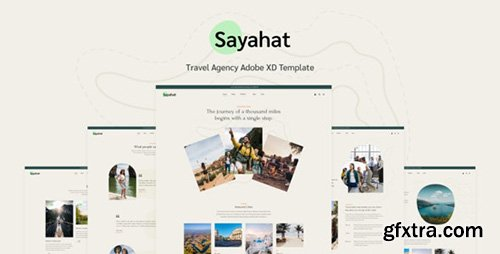 Sayahat - Travel Agency Adobe XD Template 32772446