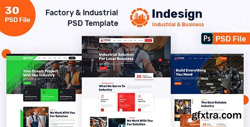 Factory & Industrial PSD Template 31818610