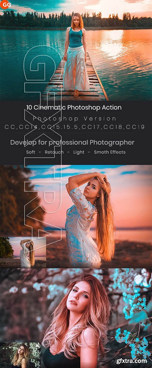 GraphicRiver - 10 Cinematic Photoshop Action 24683485