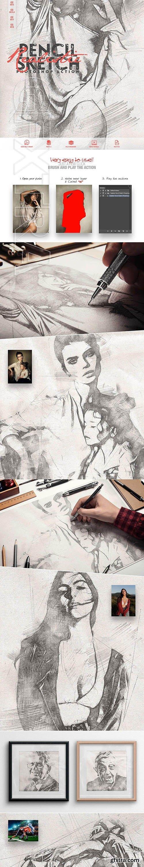 CreativeMarket - Realistic Pencil Sketch CS3+ 4065726