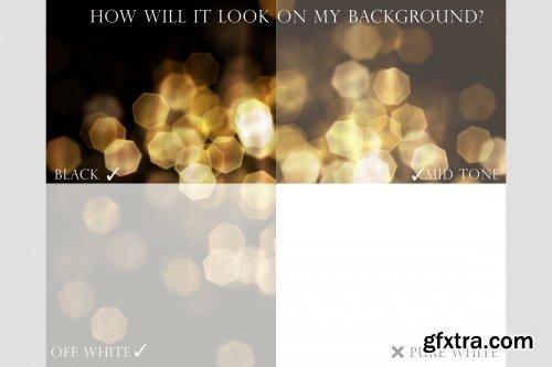 CreativeMarket - Gold bokeh overlays 4451375