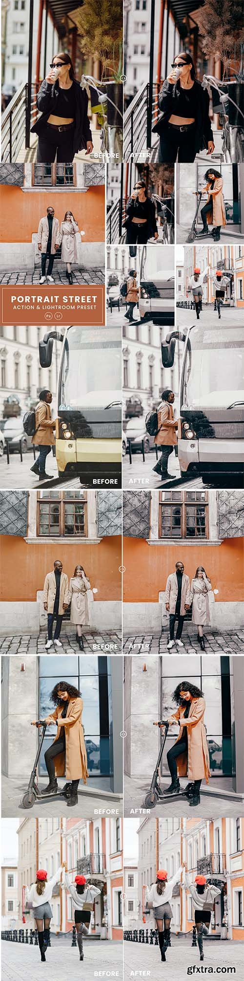 Portrait Street Action & Lightrom Presets