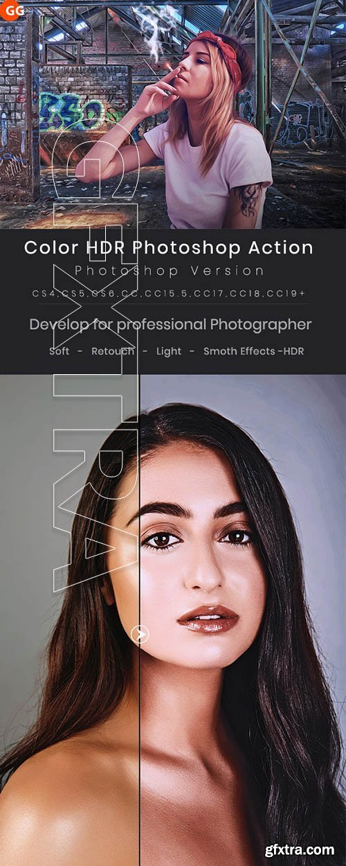CreativeMarket - Color HDR Photoshop Action 24210200