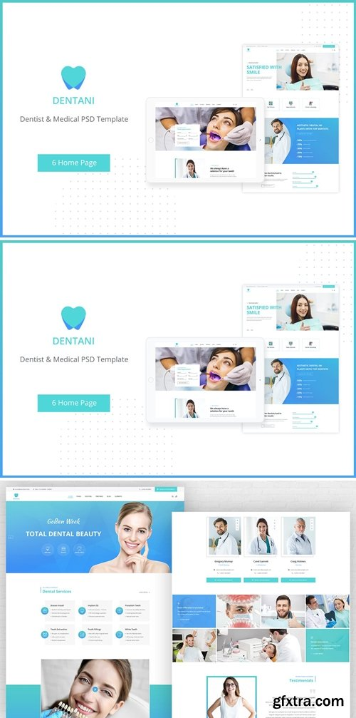 Dentas   Dentist & Medical PSD Template