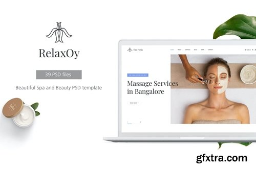 RelaxOy - Spa & Beauty PSD Template