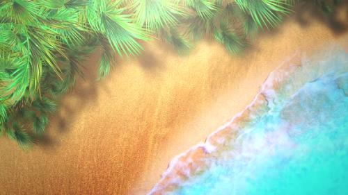 Videohive - Closeup sandy beach with blue waves of ocean - 33039565 - 33039565