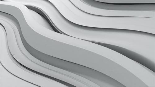 Videohive - Slow White Wave Background - 33044612 - 33044612