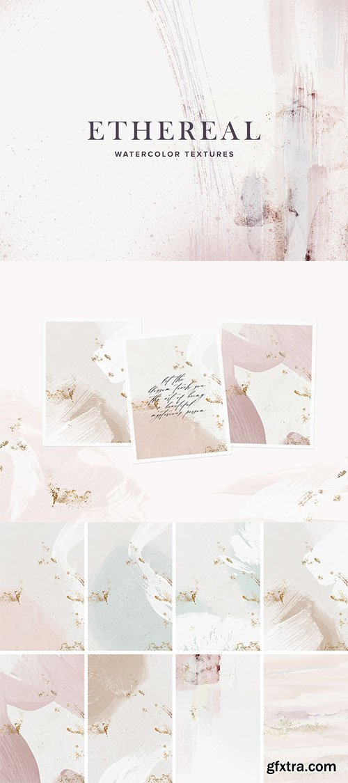 9 Ethereal Watercolor Textures