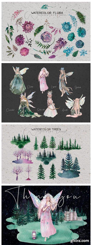 Forest Soul - Mystical Watercolor Set 14079885